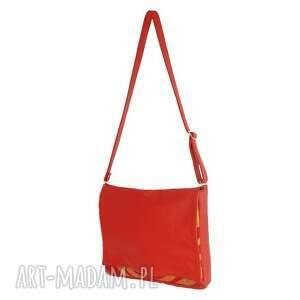 oryginalne teczki modne 35 -0007 czerwona torebka aktówka