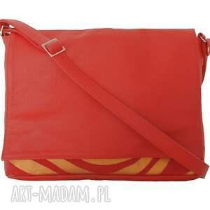 czerwone teczki modne 35 -0007 czerwona torebka aktówka