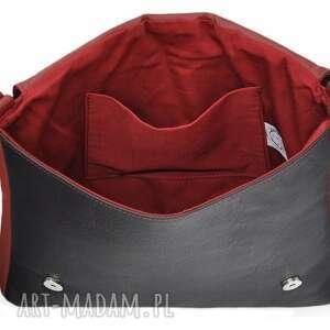 szare teczki torebki 35-0001 czerwona torebka aktówka