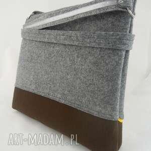 szare teczki aktówka torebka została wykonana z grubego, mocnego