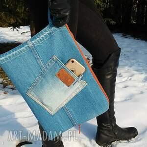 teczki pokrowiec jeansowy na dokumenty