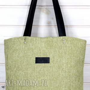 trendy teczki torebka limonkowa klasyczna torba pojemna