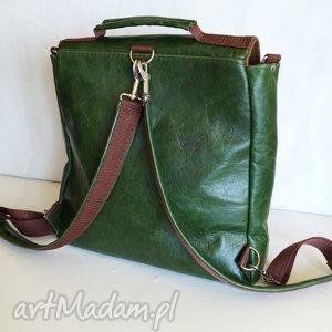 pullup teczki zielone plecak / torba skóra zielona pull