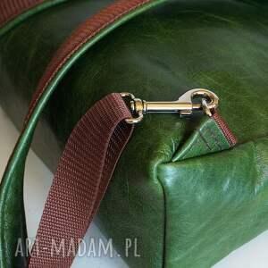 CZAJKACZAJKA frapujące teczki pullup plecak / torba skóra zielona pull
