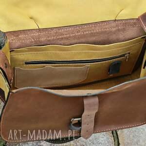 torebka teczki teczka listonoszka skórzana