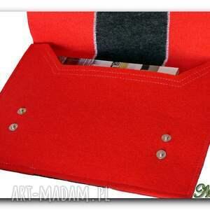 czerwone teczki torebka torba pokrowiec teczka filc hand