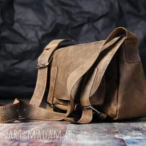aktówka teczki torba skórzana unisex