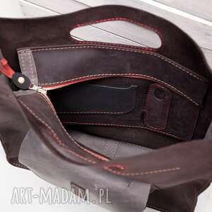 torebka na ramię teczki skórzana ręcznie robiona