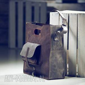 niesztampowe teczki torba skórzana torebka ręcznie robiona