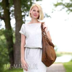 brązowe torebki torebka brązowa torba w kształcie worka