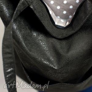 atrakcyjne torebki torebka czarna duża torba shopper z zamszu