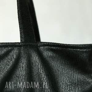 zamkiem torebki czarna elegancka torba z nubuku