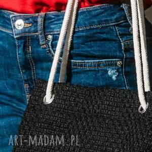 modne torebki czarny worek wymiary (rozłożonej na płasko): ok