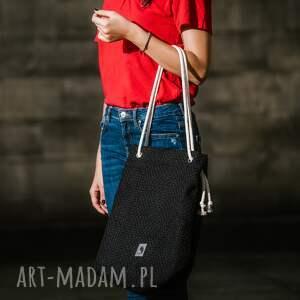 torba worek torebki czarna torebka na lato rączki