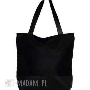 torebki czarna zamszowa torba w kształcie