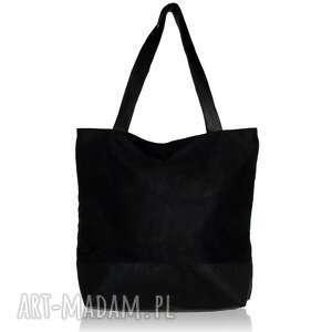 torebki z personalizacją czarna zamszowa torba w kształcie