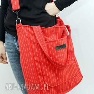 torebki flisanna czerwona