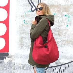 oryginalne torebki czerwona torba worek z zamszu