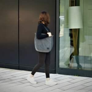 torebki torba duża ciemnoszara na zamek