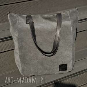 torebki torebka duża ciemnoszara torba na zamek