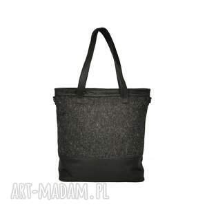 torebka torebki duża czarna torba z matowej skóry