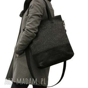 eleganckie torebki torebka duża czarna torba z matowej skóry