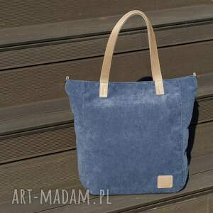 torebka torebki duża jasnogranatowa torba na zamek