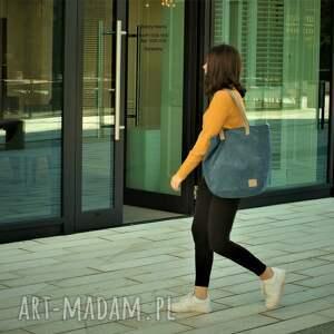 torebki torba duża jasnogranatowa na zamek