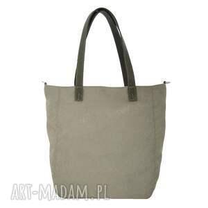 torebka torebki duża jasnoszarobeżowa torba na