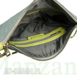 listonoszka torebki duża na łańcuszku siwa