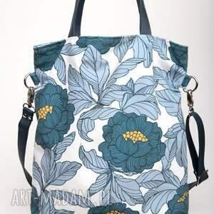 torebki letnia duża niebieska torba w kształcie