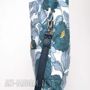 ręcznie zrobione torebki wiosenna duża niebieska torba w kształcie