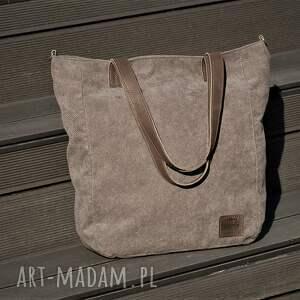 torebki torebka duża szarobrązowa torba na zamek