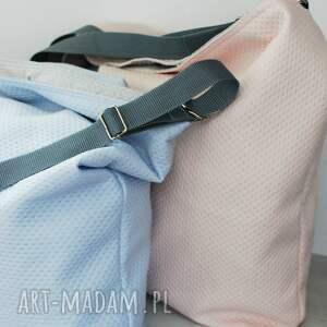2dc12589d2dec Hand Made torebki - duża torba miejska błękitno