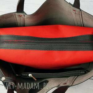 3w1 torebki czerwone duża torba worek manzana xxl