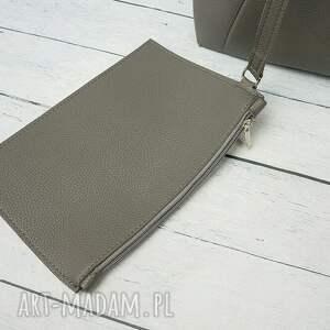 czarne torebki torebka duża torba worek manzana xxl 3w1