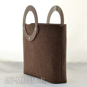 niesztampowe torebki duża torebka z filcu i plexi