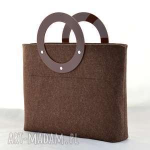 torebki torebka duża z filcu i plexi