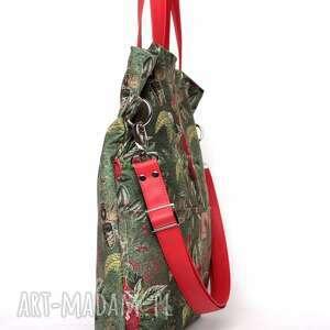 wyjątkowe torebki duża zielona torba w kwiaty