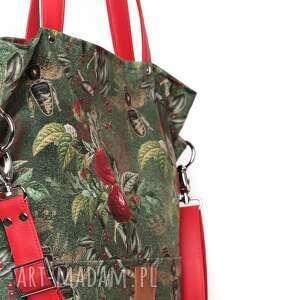 letnia torebki duża zielona torba w kwiaty