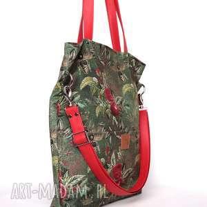 zielone torebki duża zielona torba w kwiaty