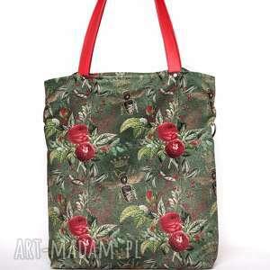 wyjątkowe torebki letnia duża zielona torba w kwiaty