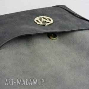 eleganckie torebki worek duży torebka manzana - muflon