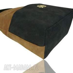 handmade torebki worek duży torebka manzana - muflon