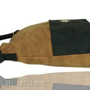 handmade torebki duży worek torebka manzana - muflon
