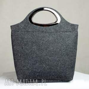 szare torebki torebka filcowa grafitowa czarna tote