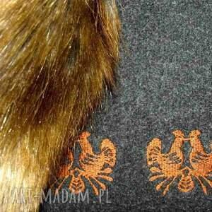 oryginalne torebki tote filcowa grafitowa brązowa torebka