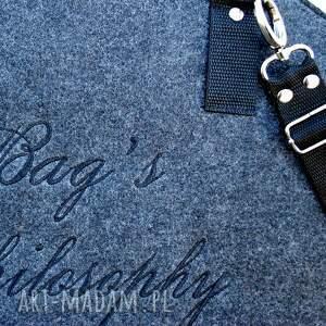 torebki filcowa szara czarna torebka hobo