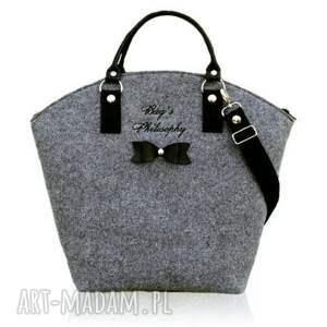 torebki torebka filcowa szara czarna hobo