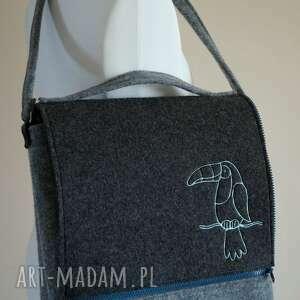 tukany torebki filcowa torba z haftem